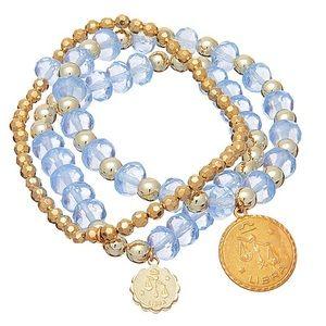 New Zodiac Aires Double Strand Bracelet Set